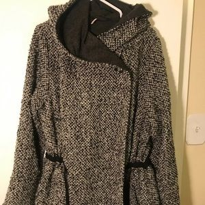 FREE PEOPLE hooded wrap coat size small